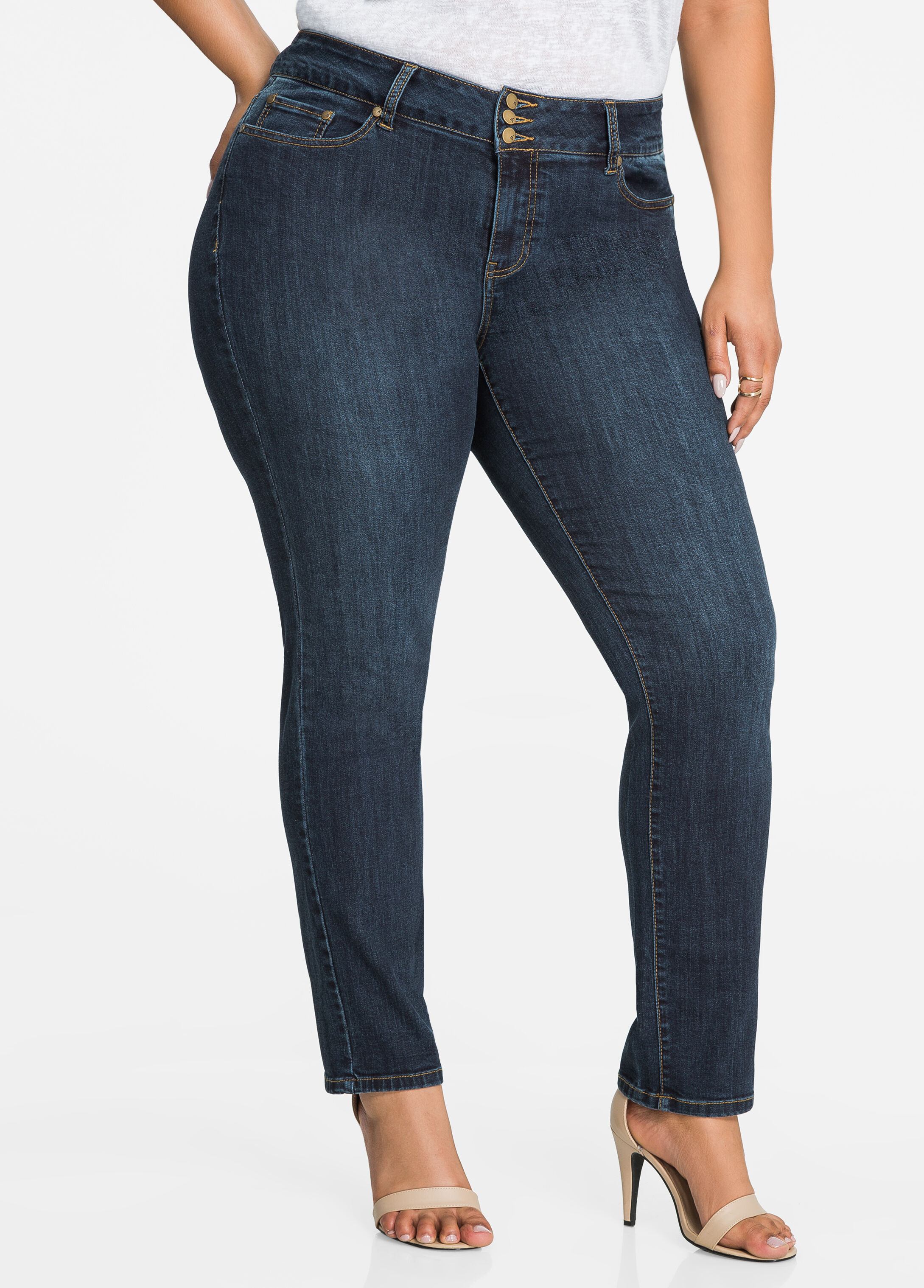 Modern Straight Leg 3-Button Jean