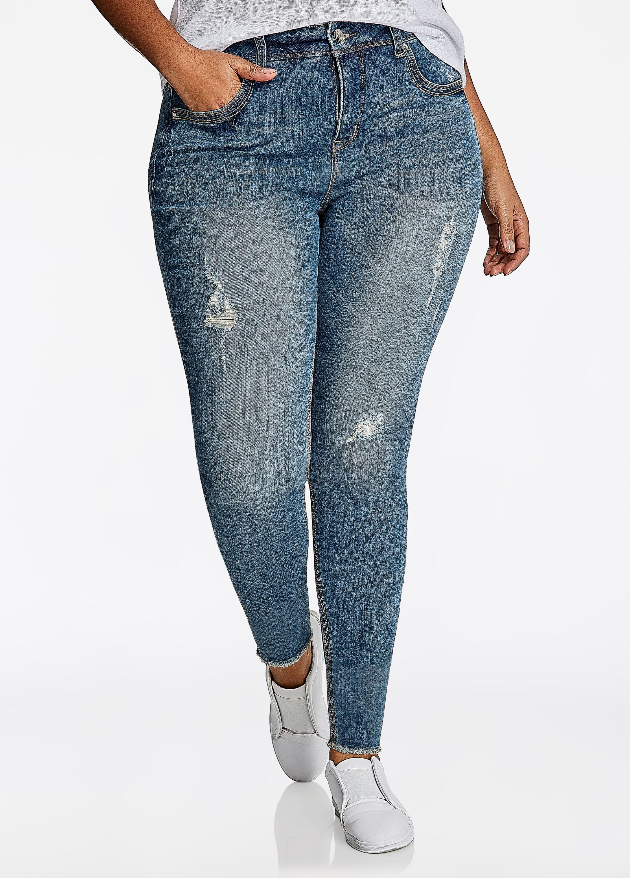 "Melissa McCarthy ""M"" Embellished Pencil Jean"