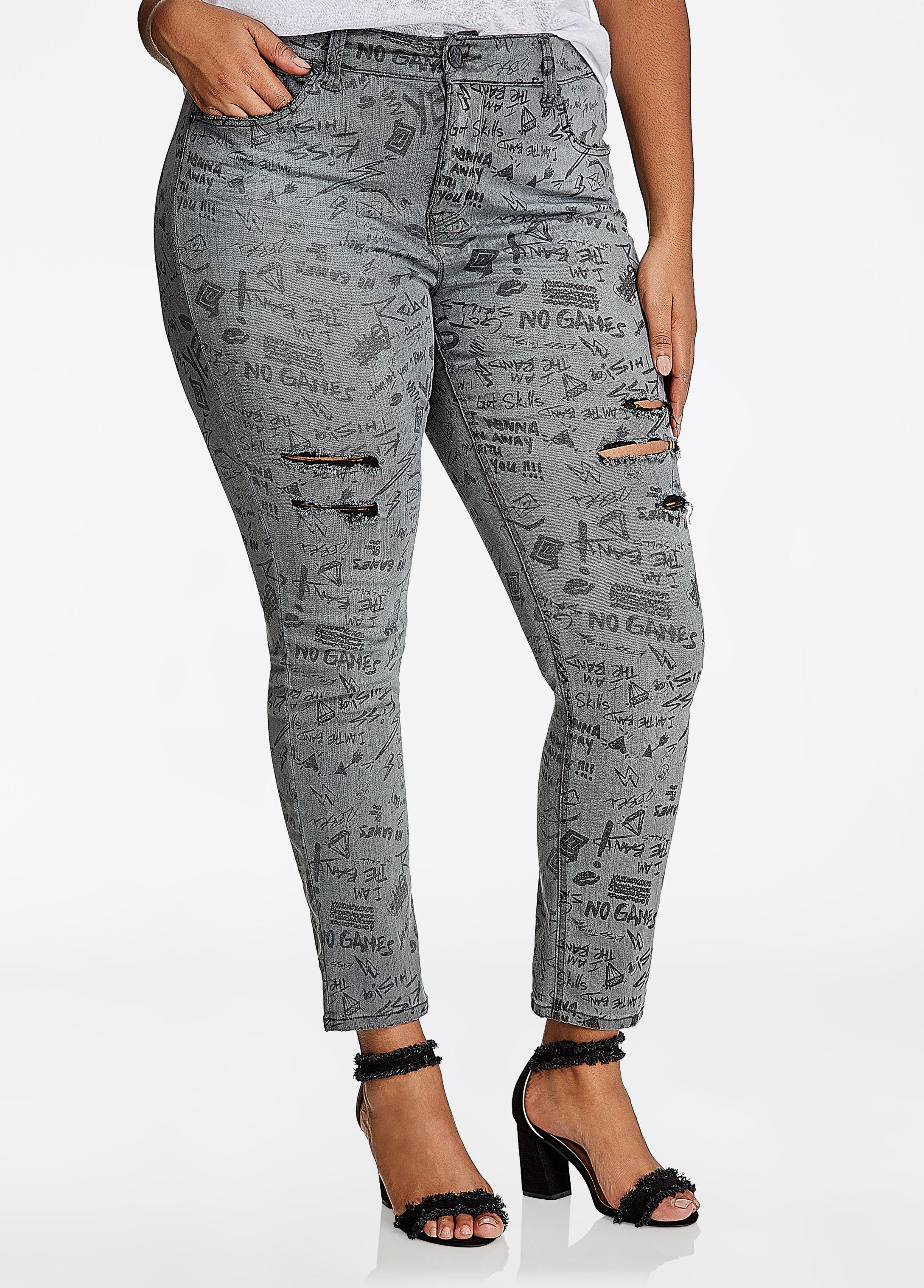 Melissa McCarthy Distressed Skinny Jean