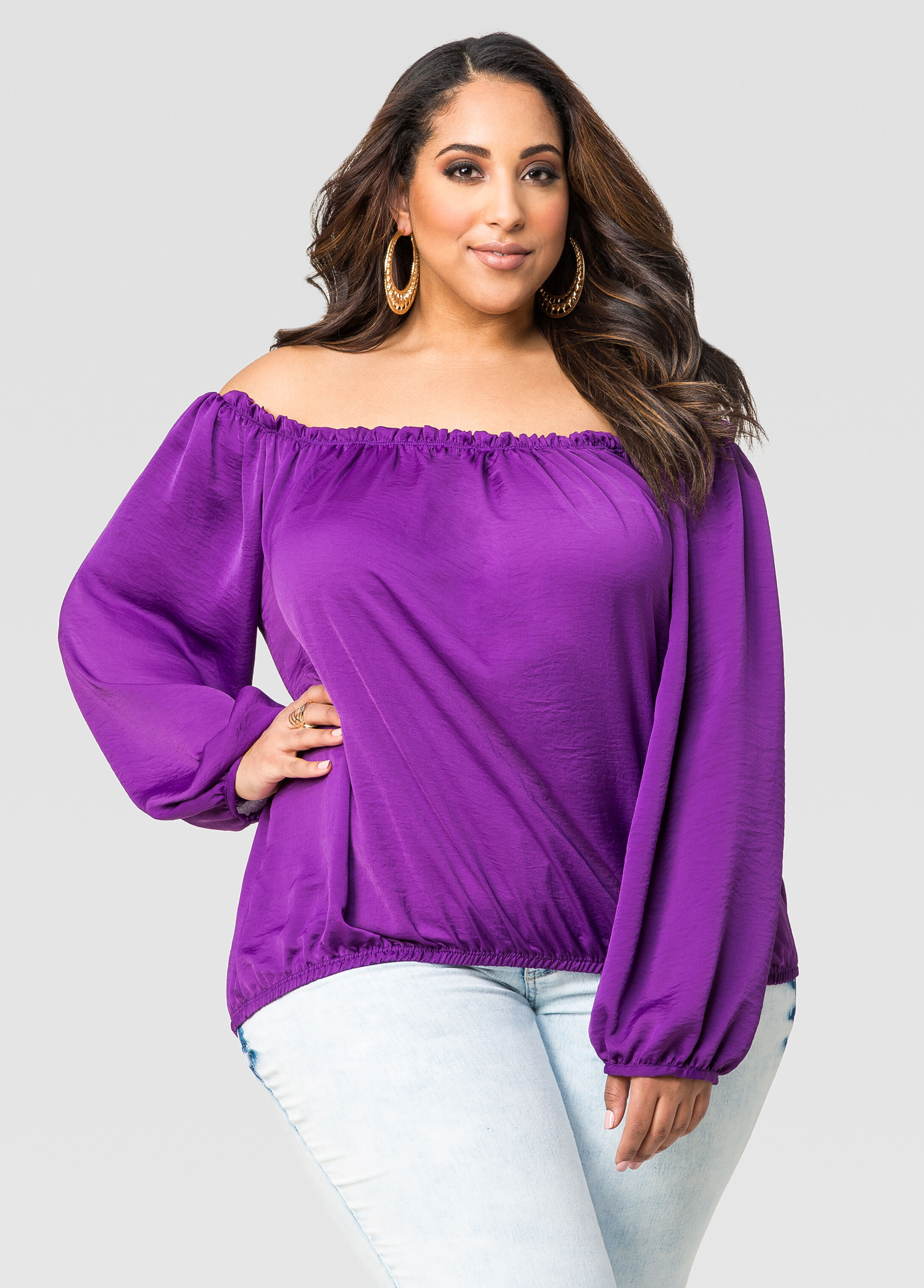 Satin Blouse Plus Size