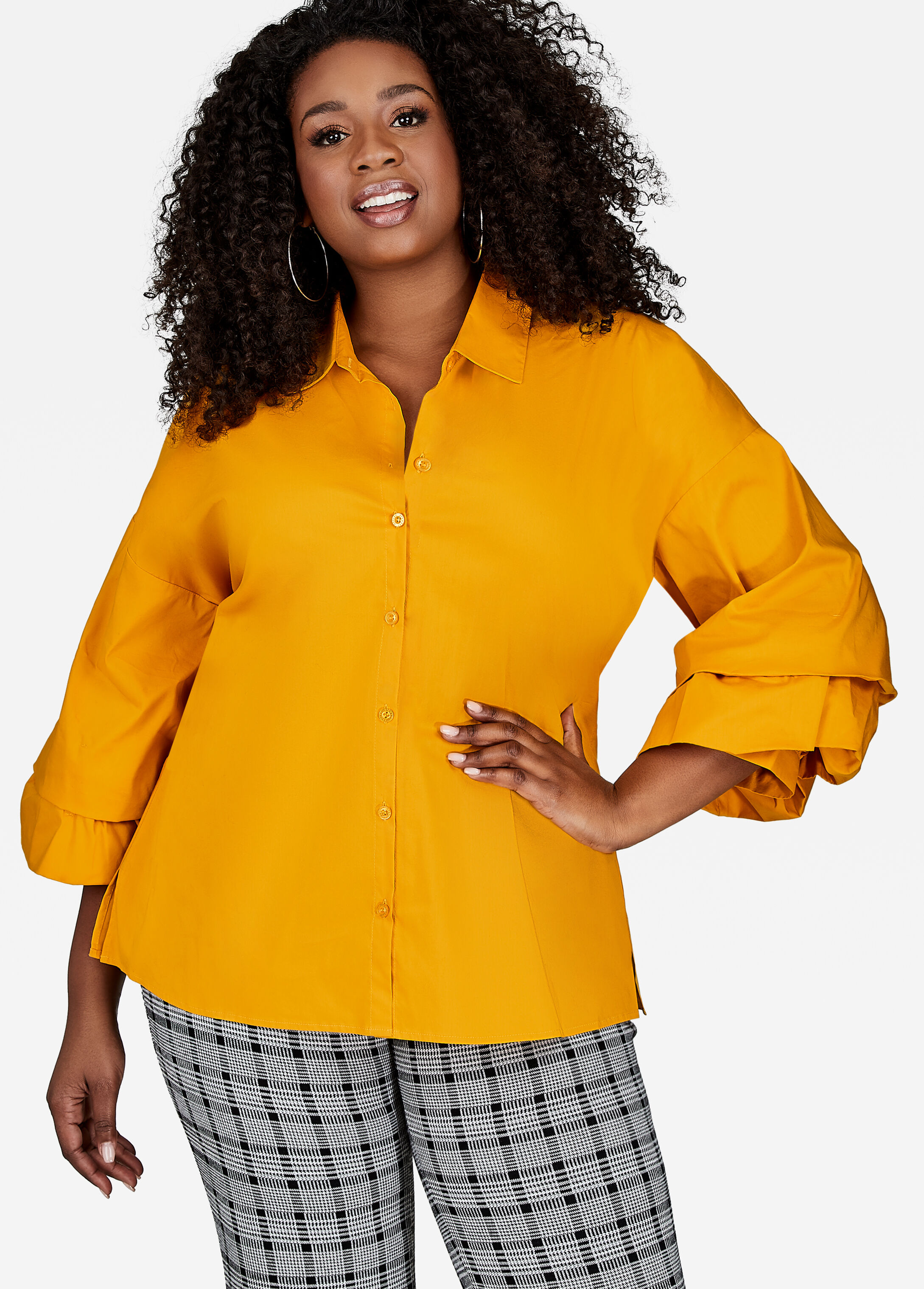 Layer Sleeve Button Shirt Mango Mojito - Clearance