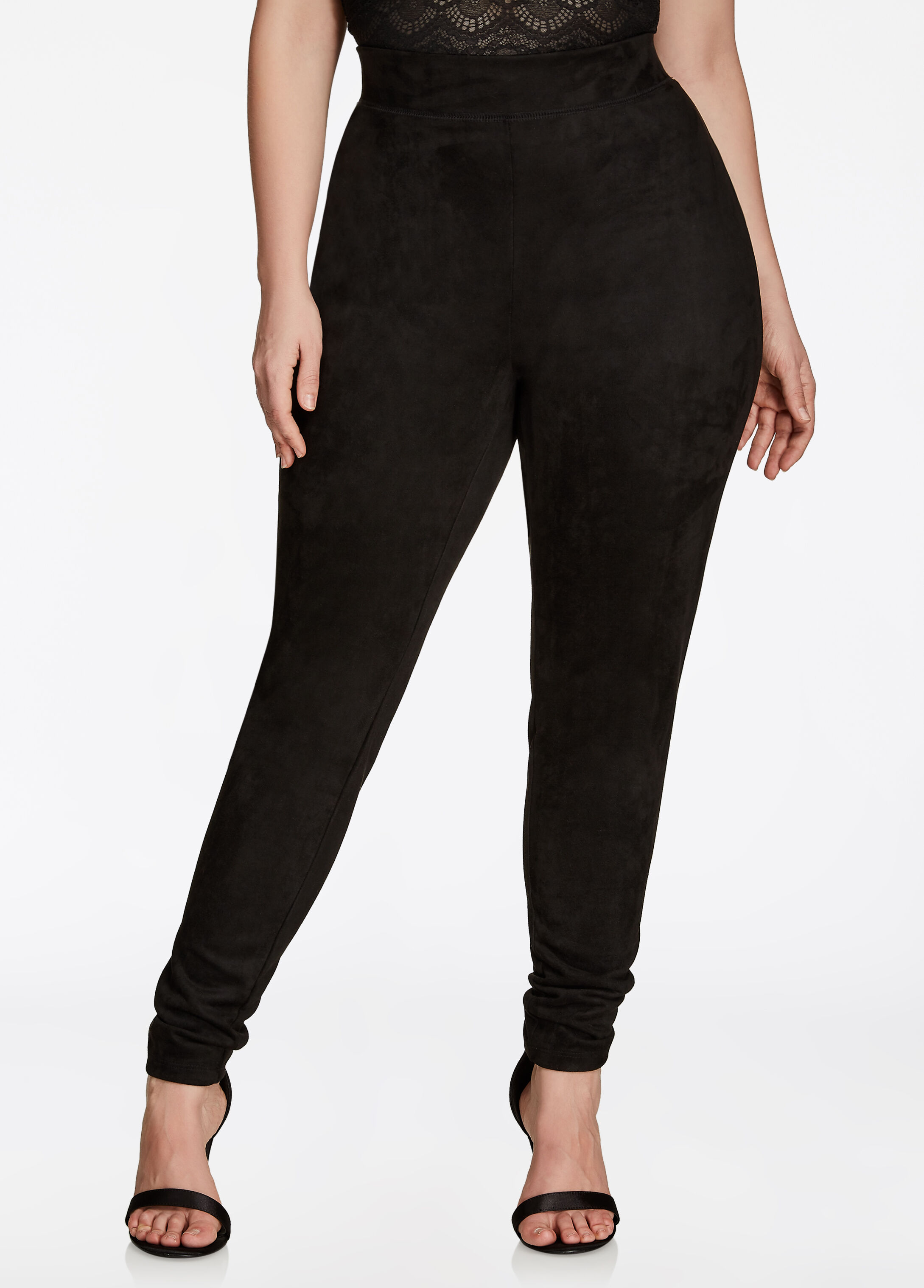 Pull On Suede Legging