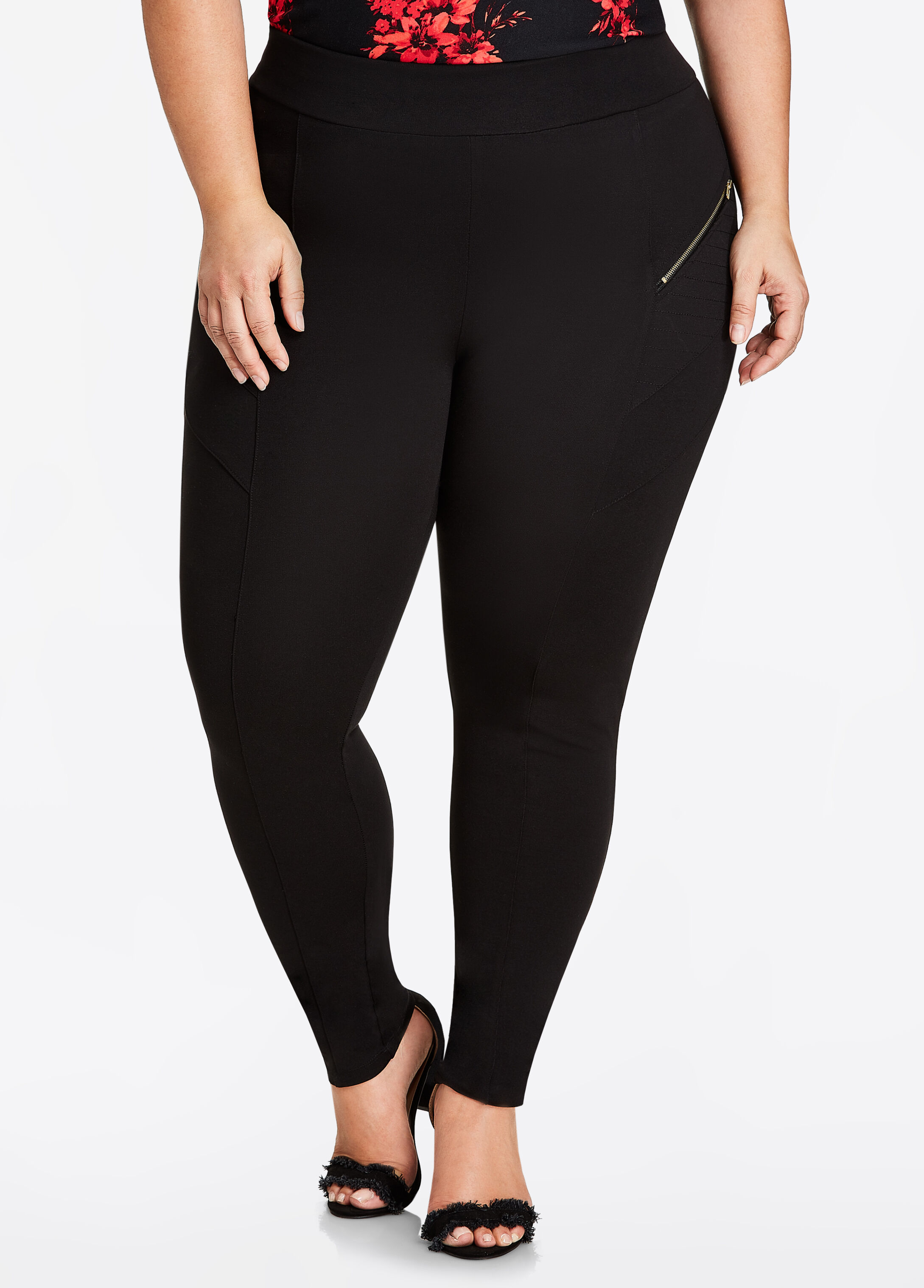 Front Zip Detail Legging