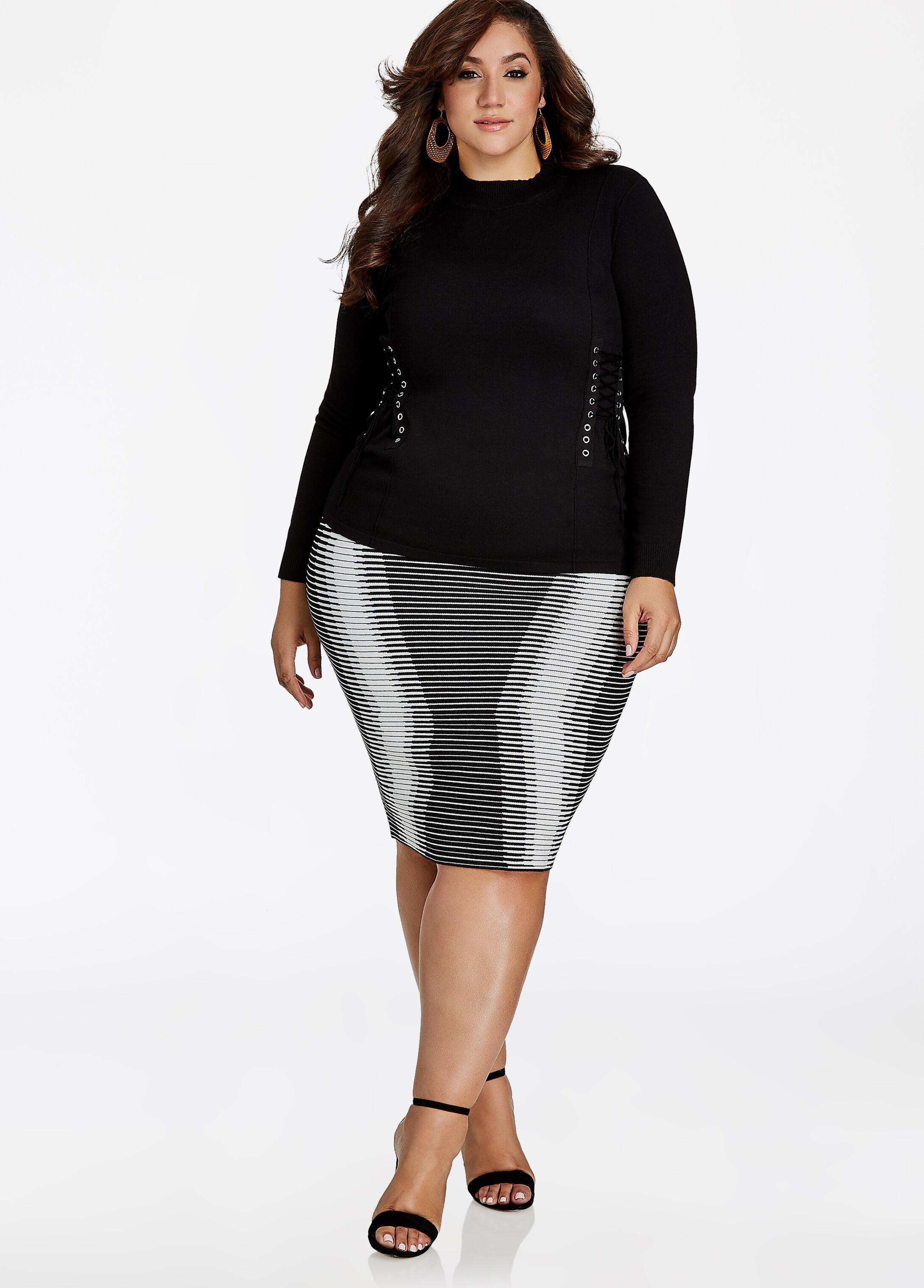 Sweater Stripe Skirt