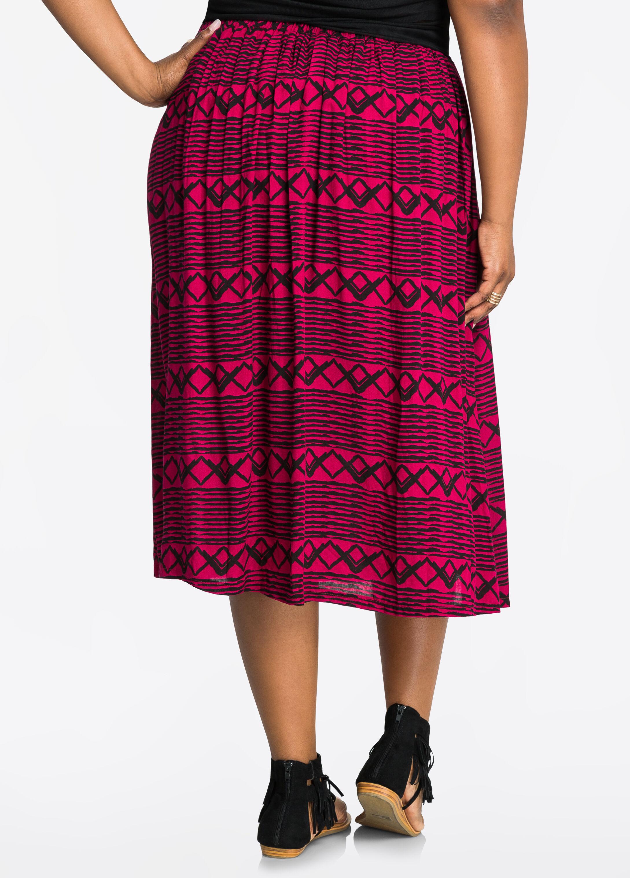 Print Cotton Skirt 30
