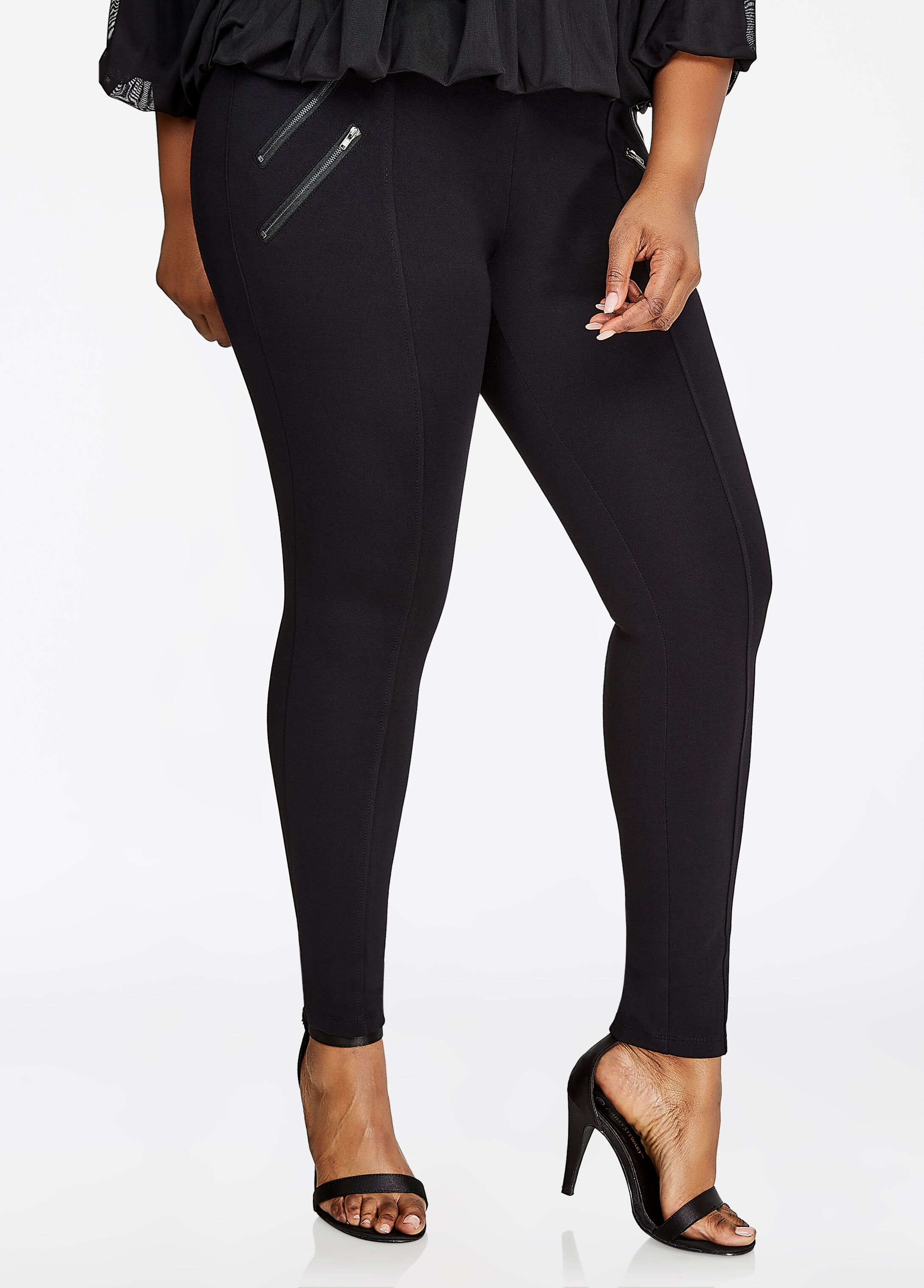 Double Zipper Ponte Legging