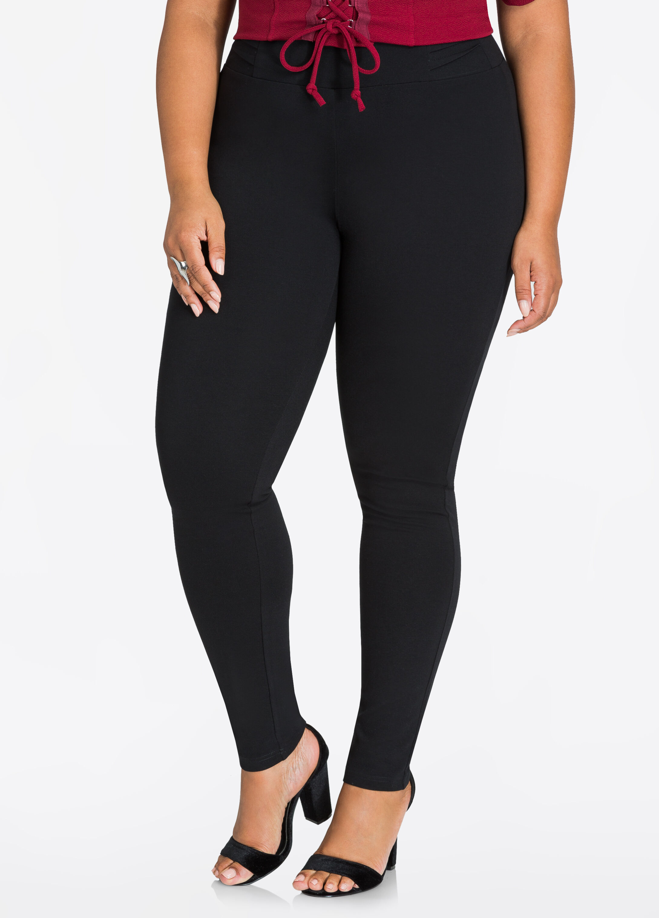 Pintuck Band Ponte Legging