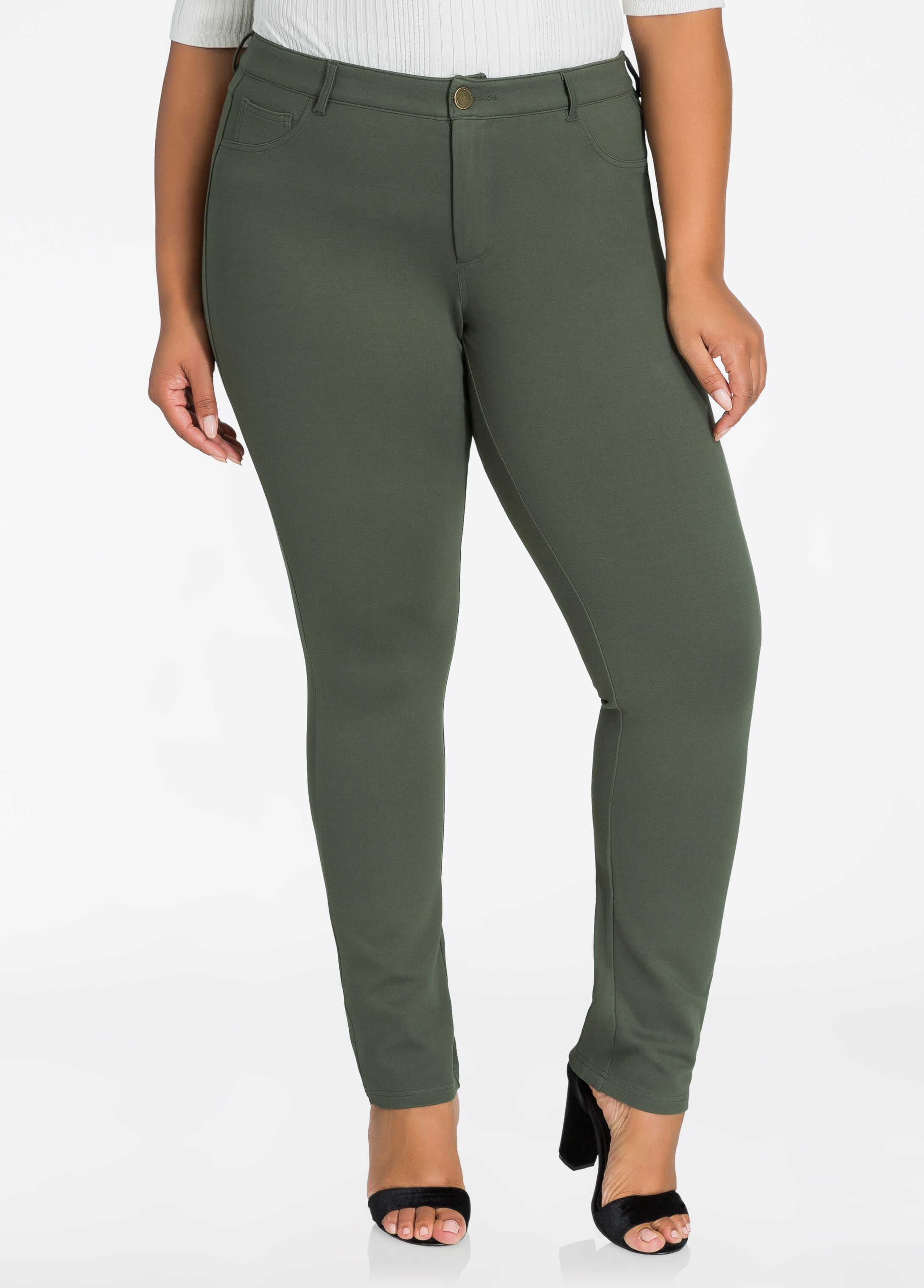 Basic 5 Pocket Ponte Skinny Pant Deep Depths - Bottoms