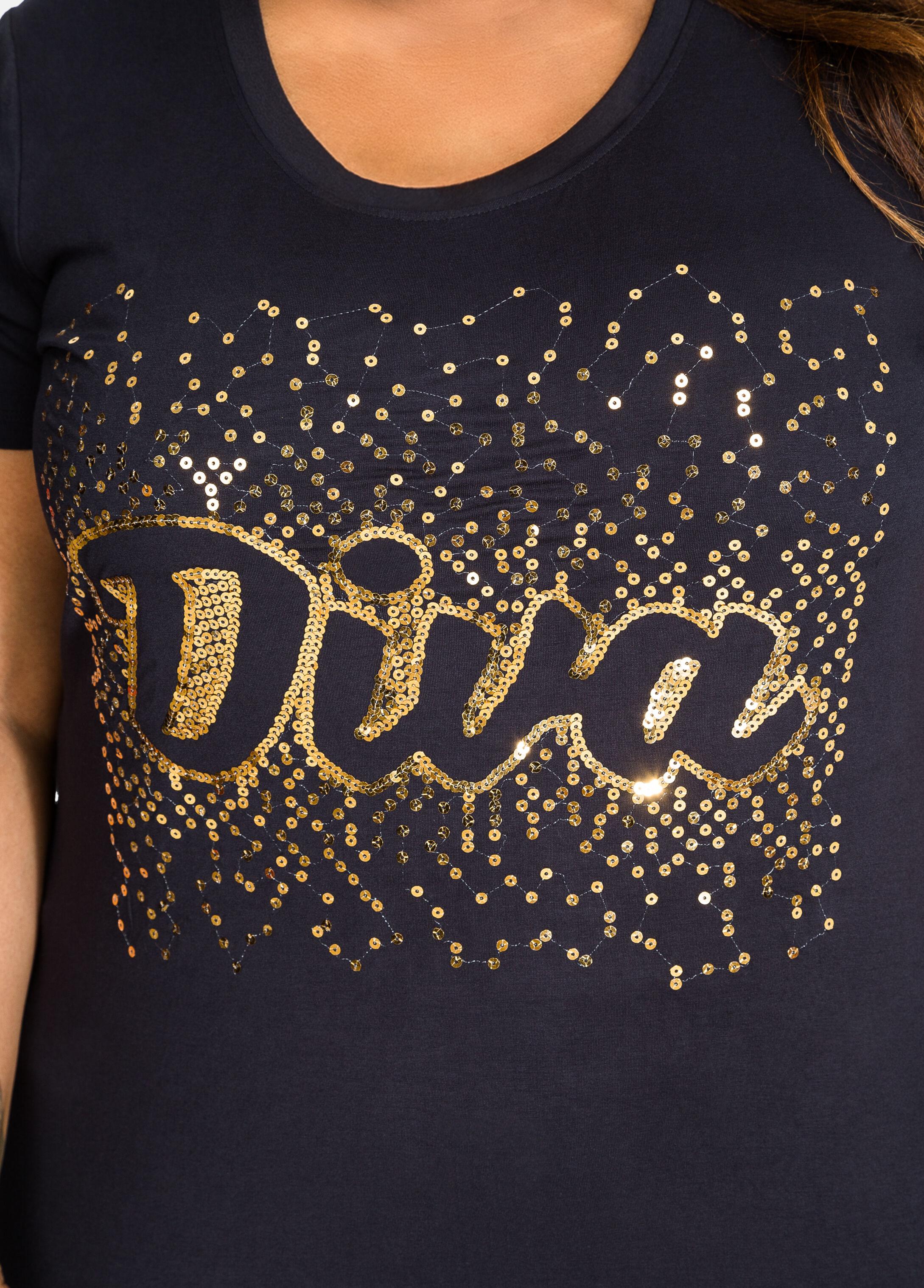 Metallic Sequin Diva Graphic Tee