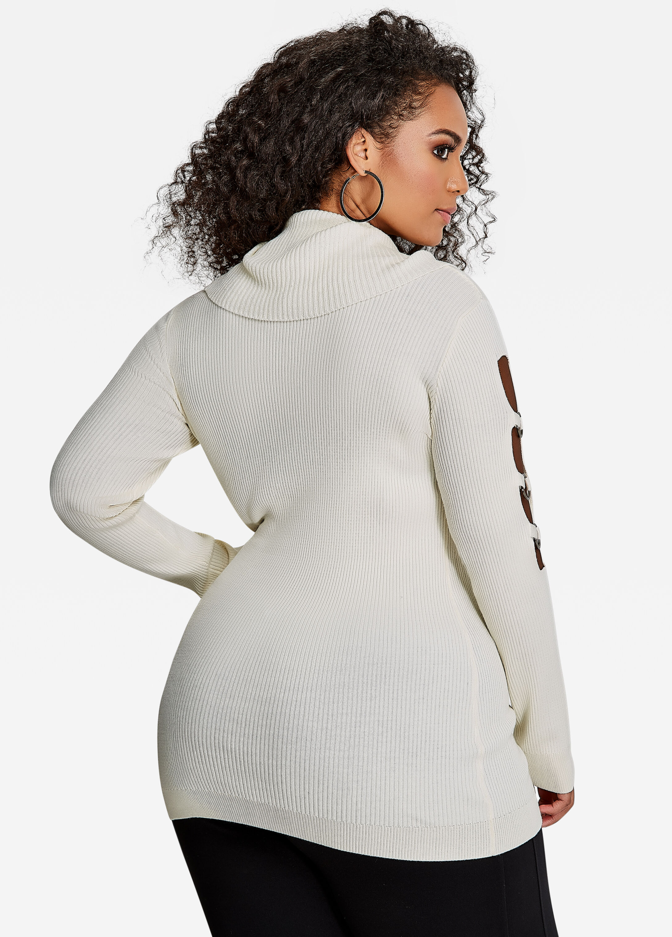 Plus Size Sweaters - Long Sleeve, Ring Cutout, Off-the-Shoulder ...