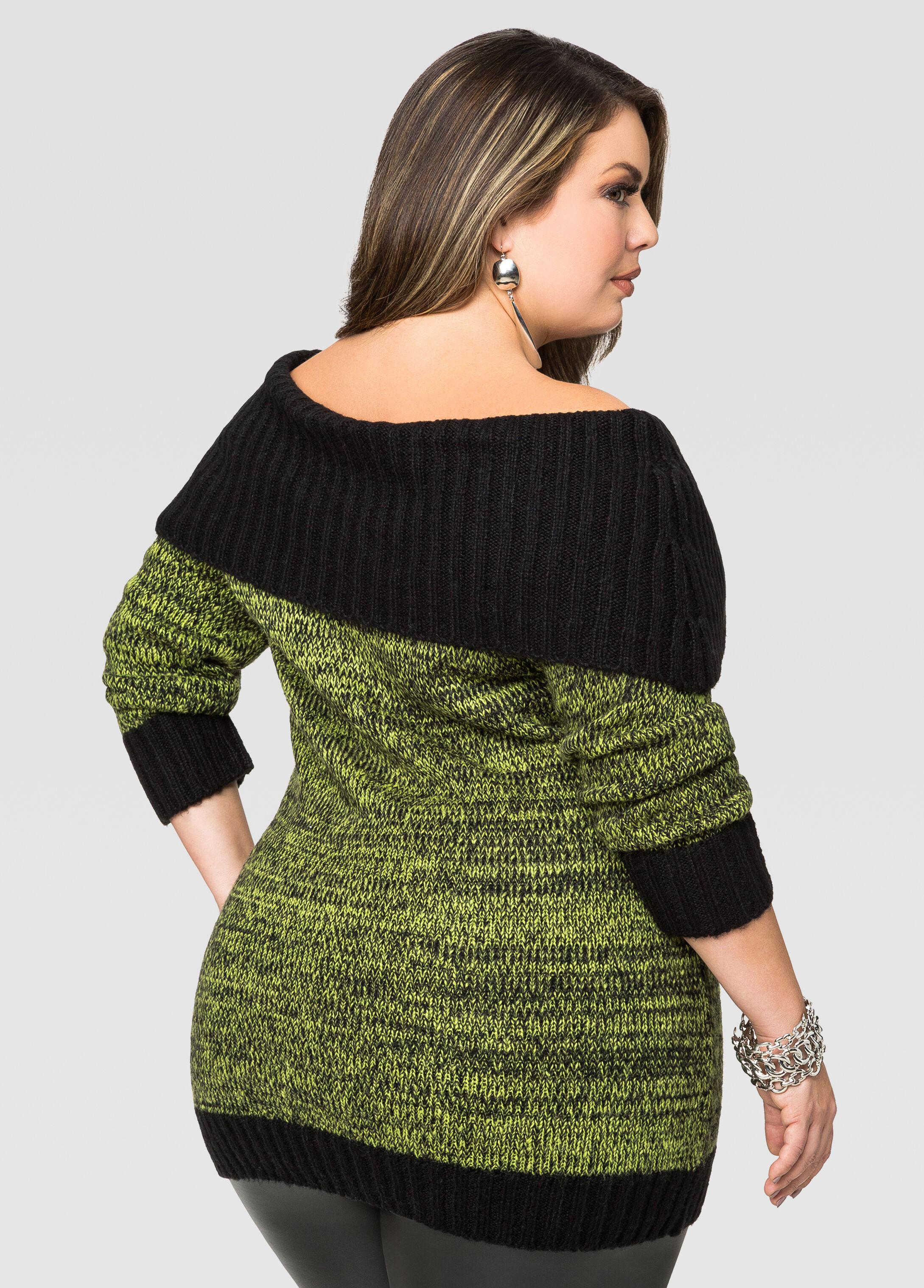 Cozy Marilyn Tunic Sweater-Plus Size Sweaters-Ashley Stewart
