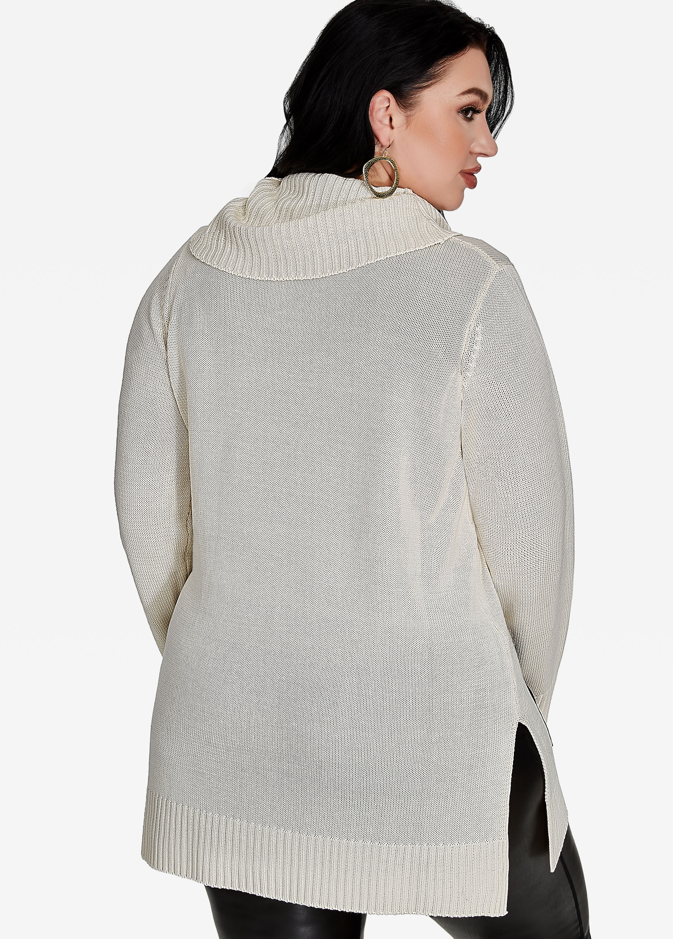 Buy Cowl Neck Sweater Egg Nog - Sweaters