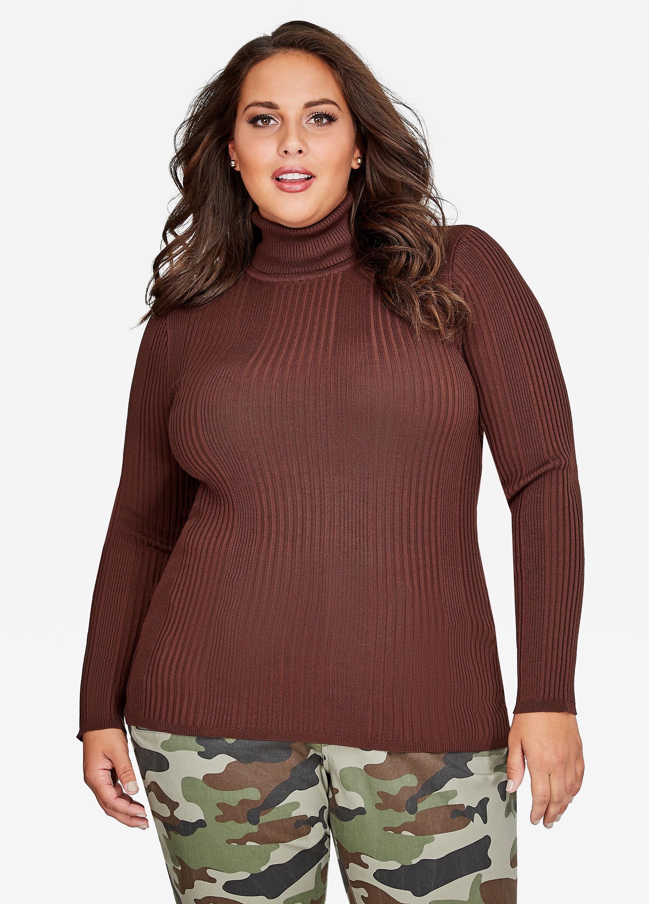 Plus Size Sweater - Basic Turtleneck