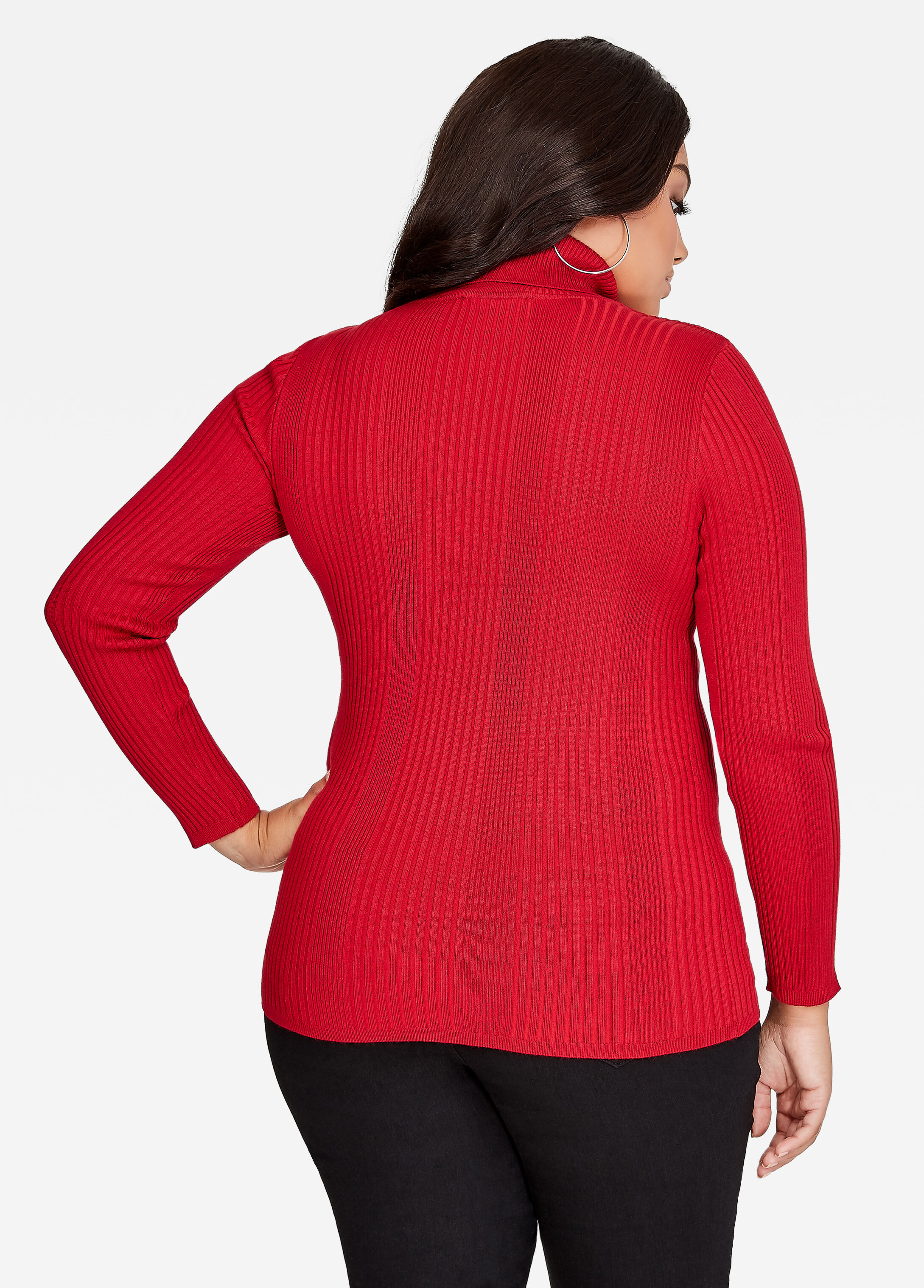 Buy Basic Turtleneck Scooter Red - Sweaters