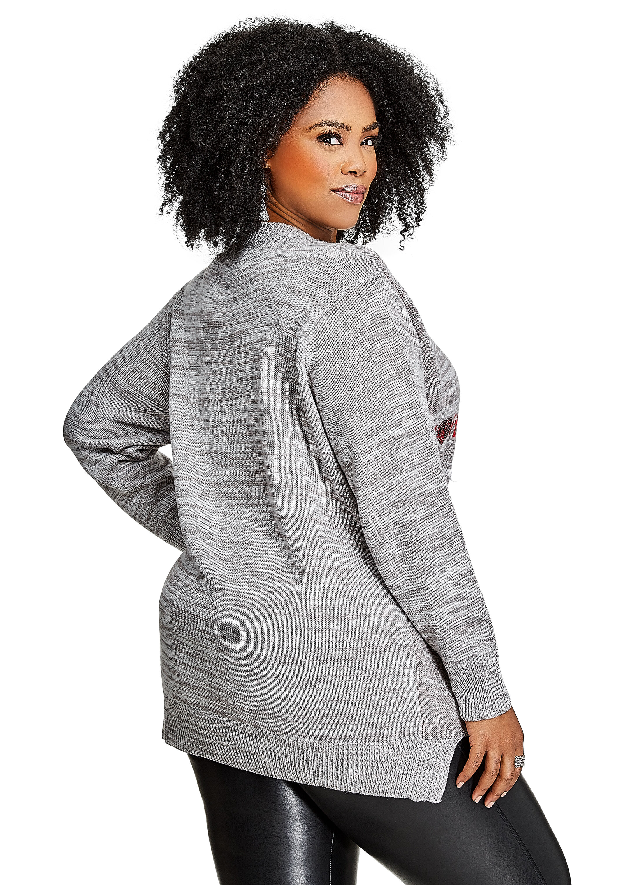 Buy Call Me Big Santa Sweater Grey - Clearance