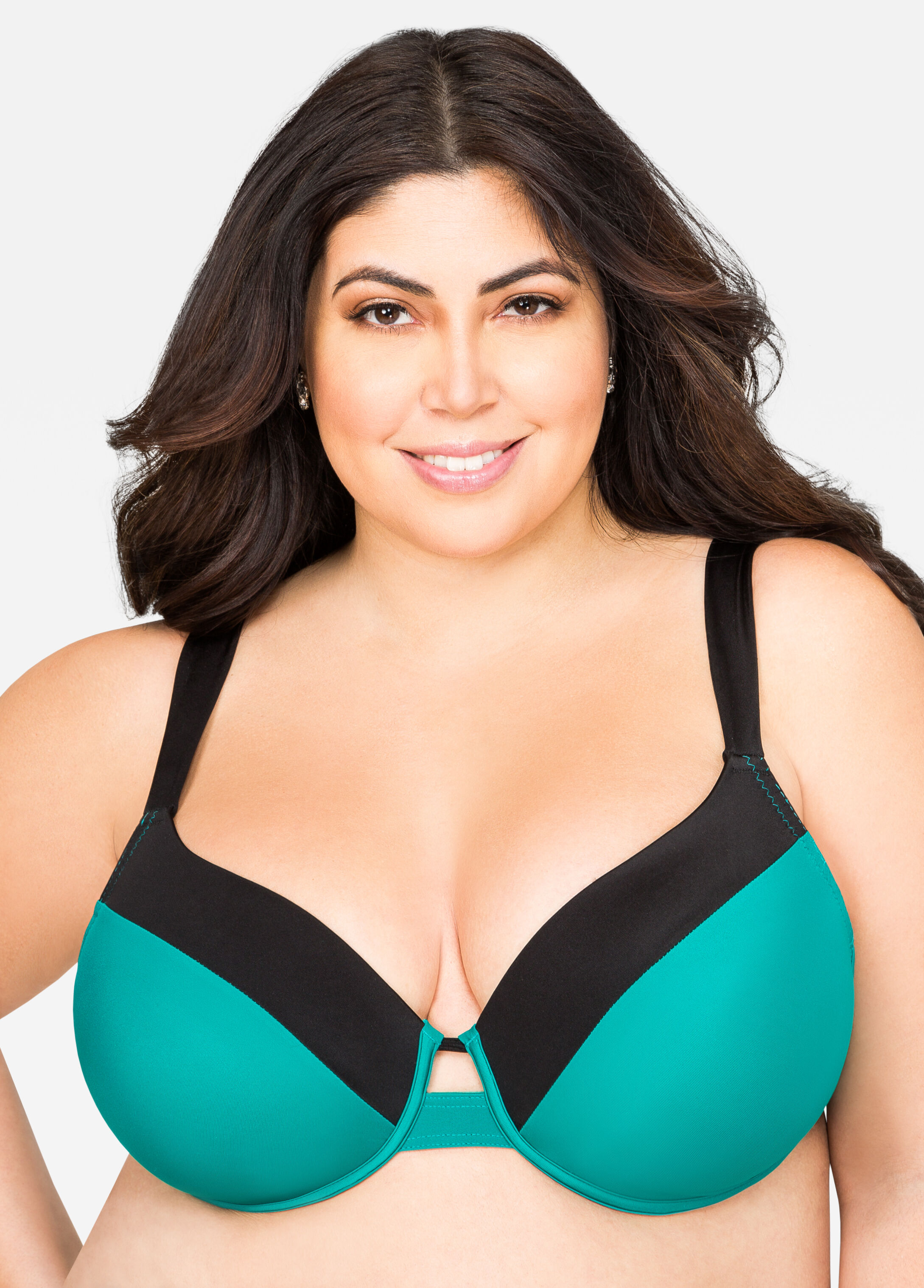 Colorblock T-Shirt Bra Teal - Clearance