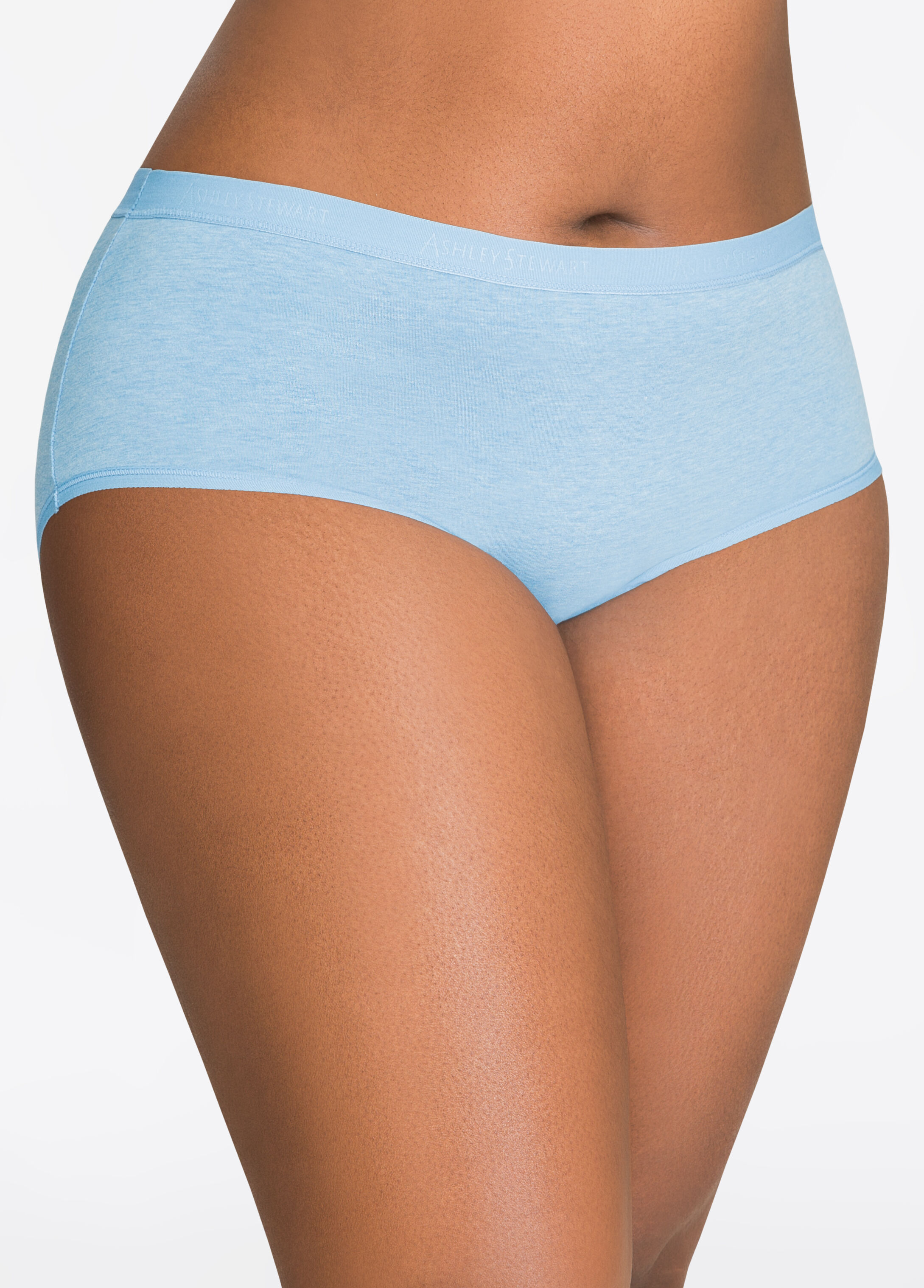 Cotton Stretch Hipster Panty with Logo Embossed Waist