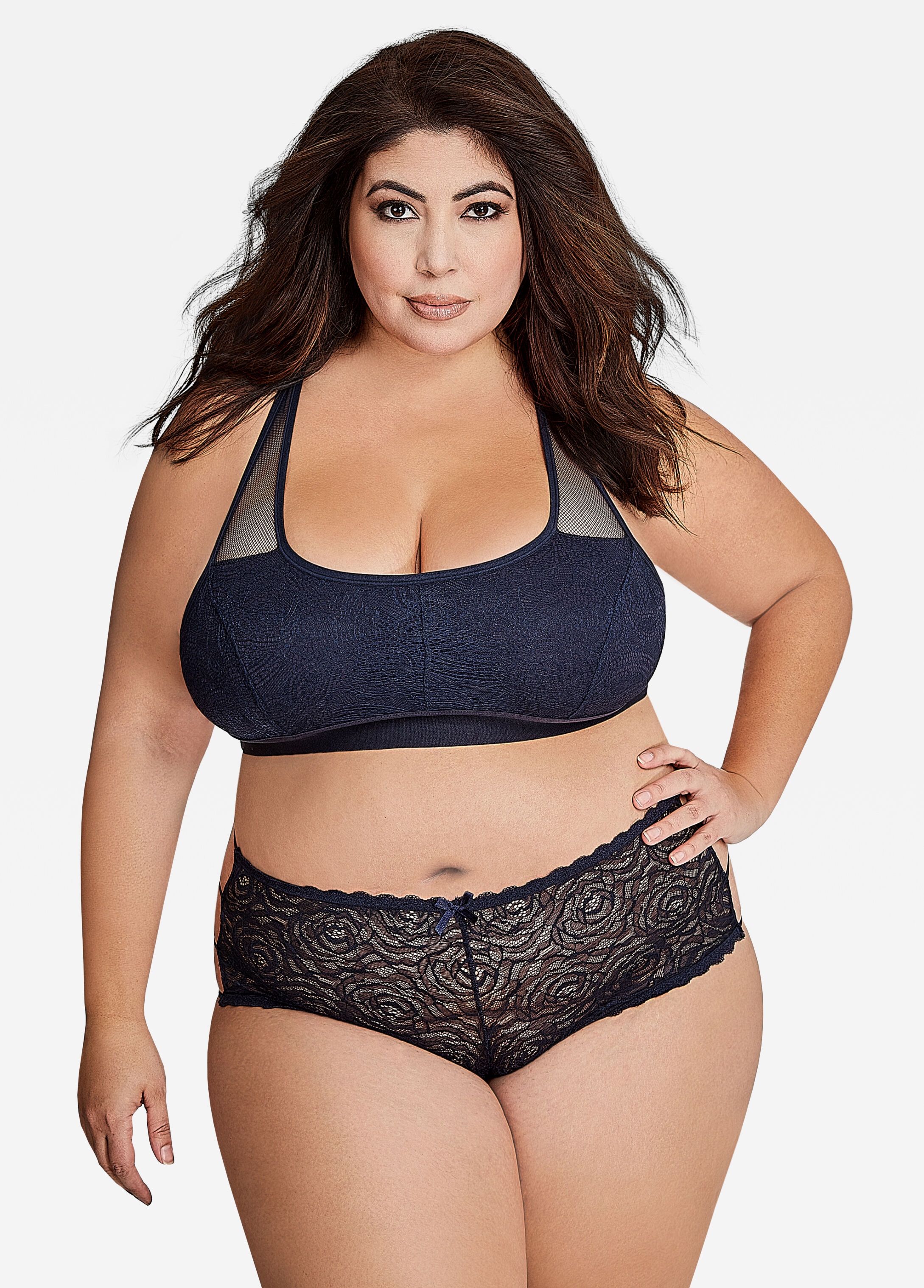 However, plus size intimate apparel encompasses both full figure lingerie sizes and lingerie for plus size women. At HerRoom, our full figure lingerie and lingerie for plus sizes is extensive. We offer brands that specialize just in plus size intimate apparel.