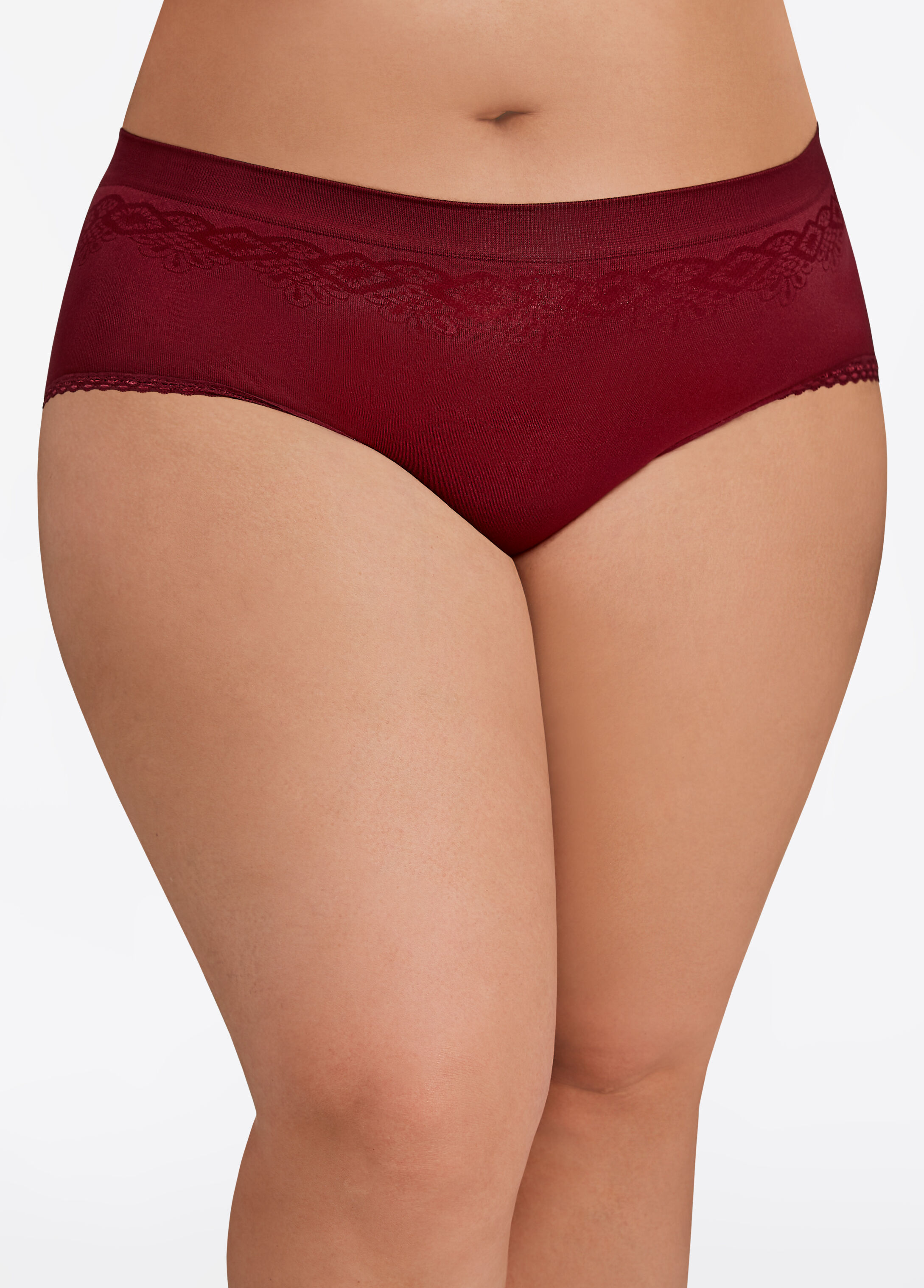 Floral Jacquard Seamless Hipster