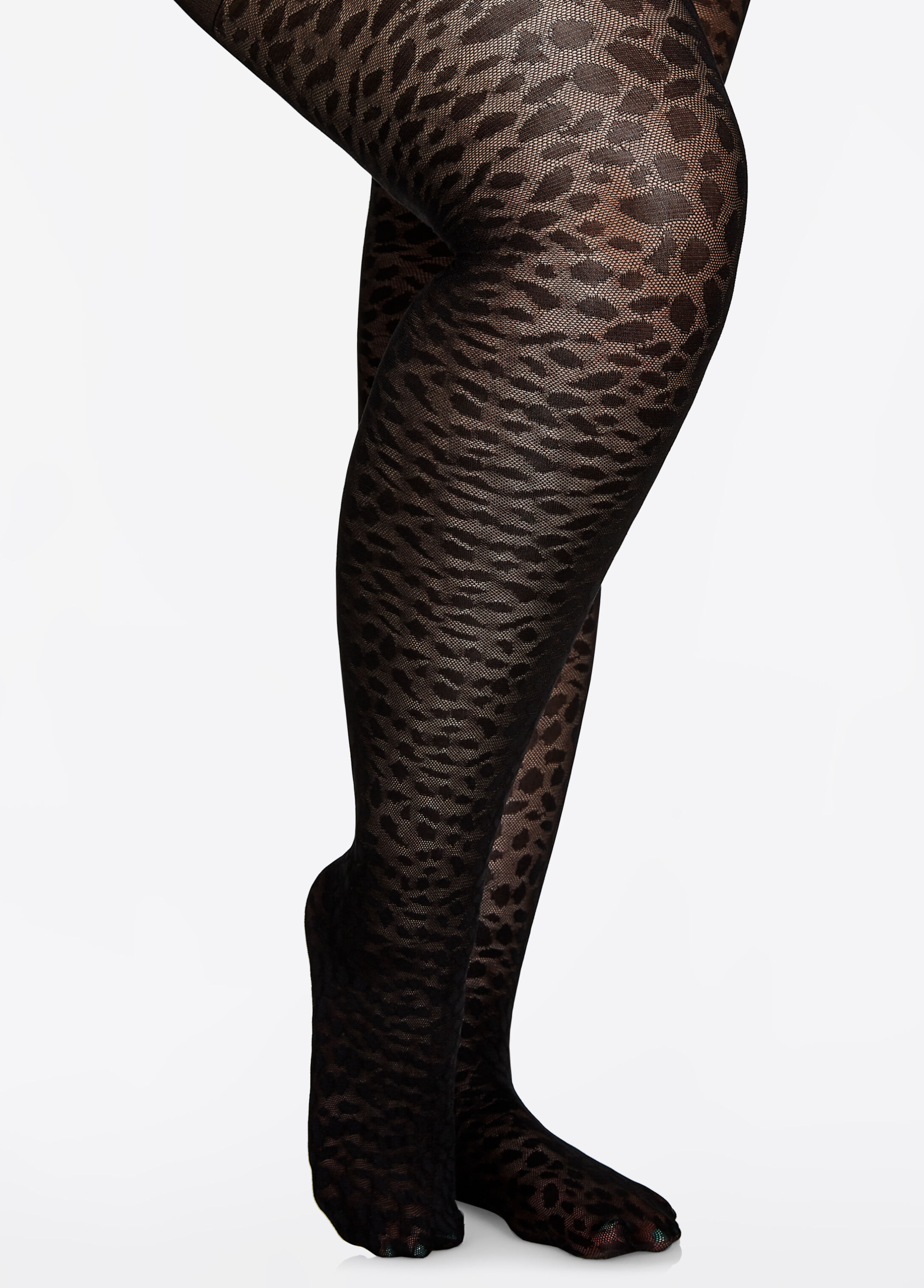 Animal Print Nylon Tight