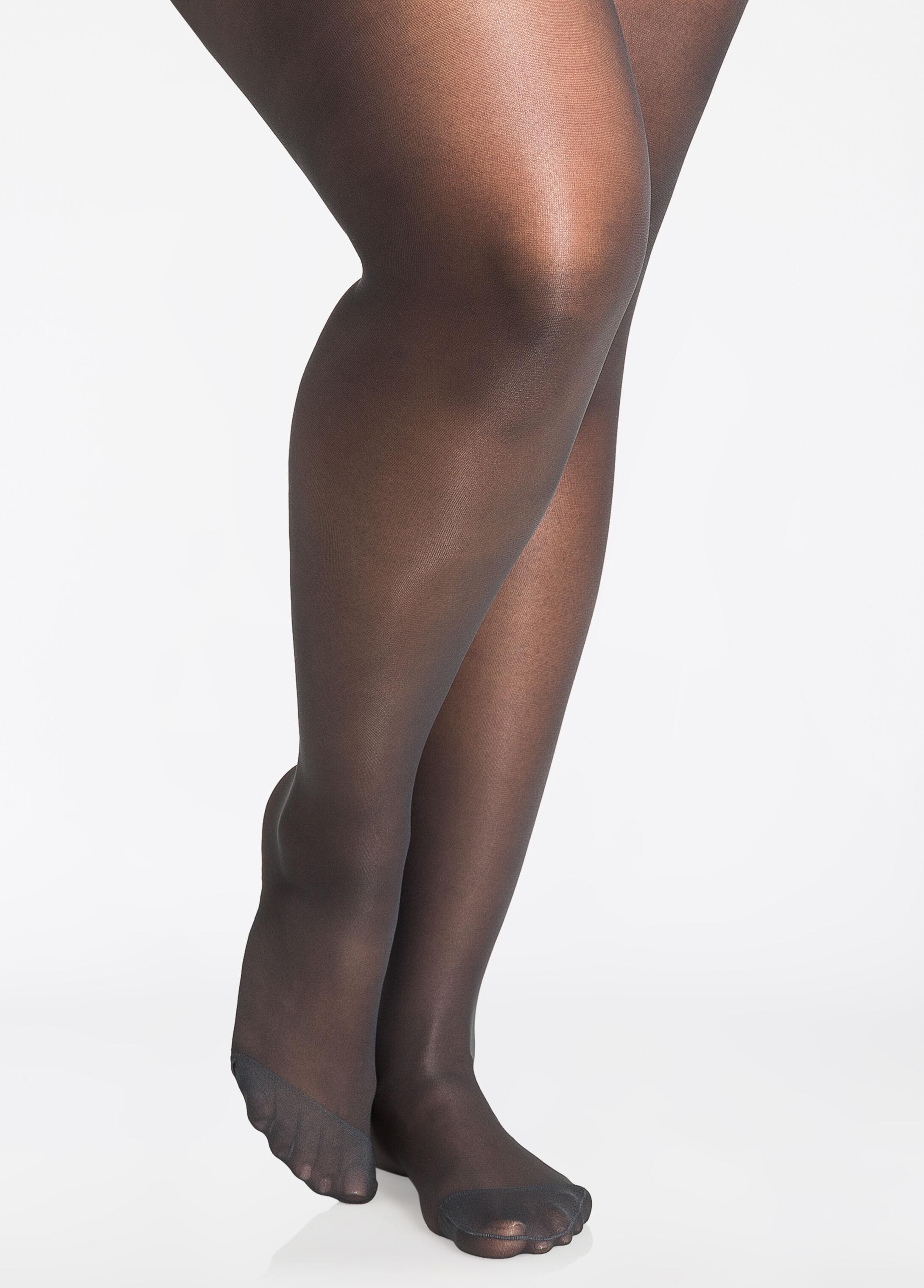 plus size pantyhose - berkshire queen silky control top pantyhose