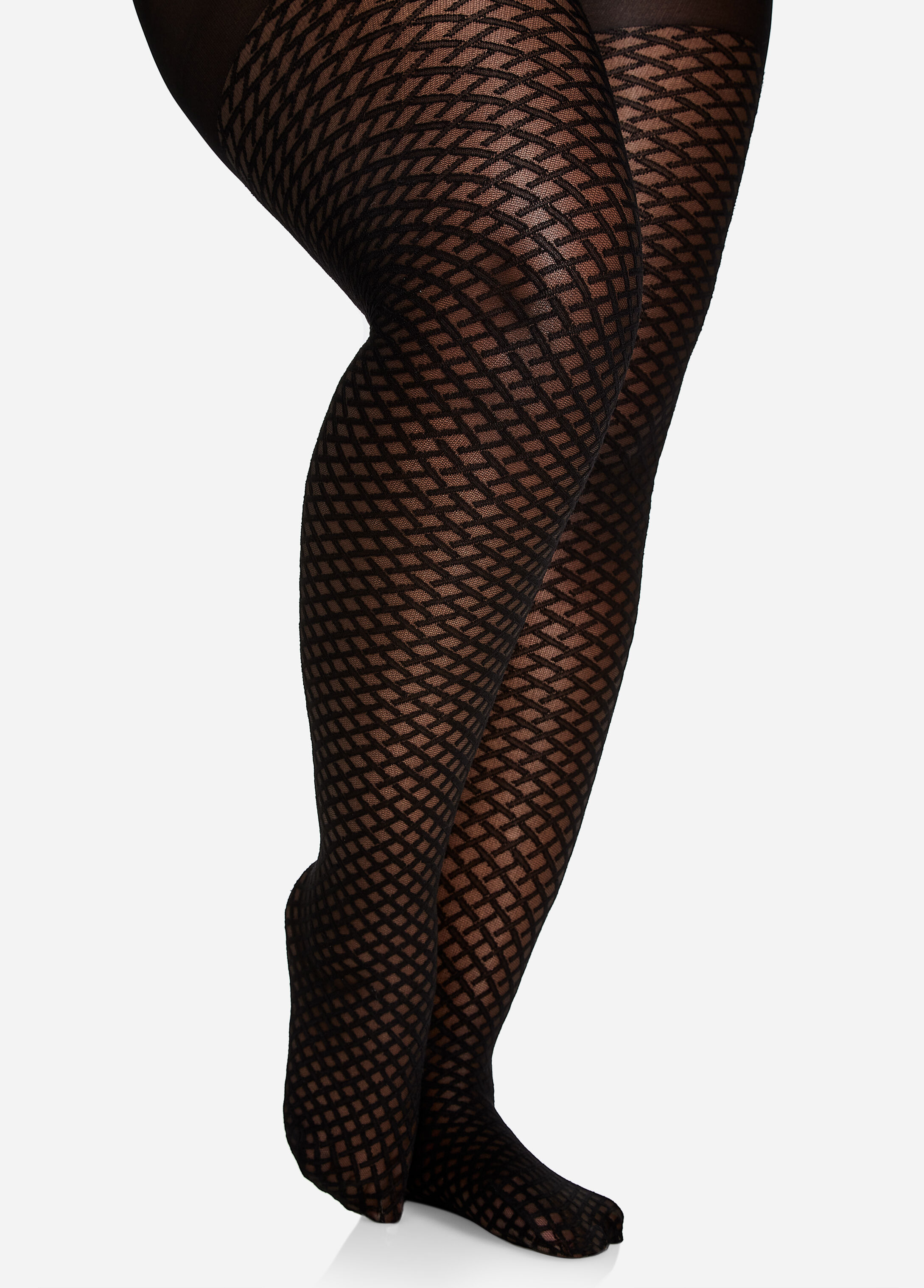 Mini Diamond Mesh Nylon Tights