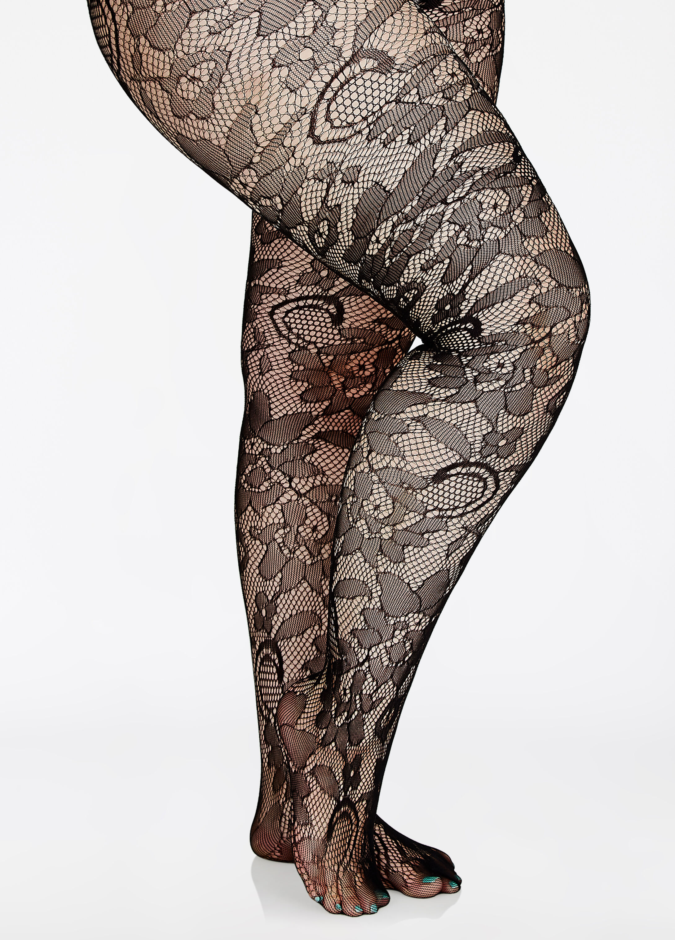 Open Floral Paisley Net Tight