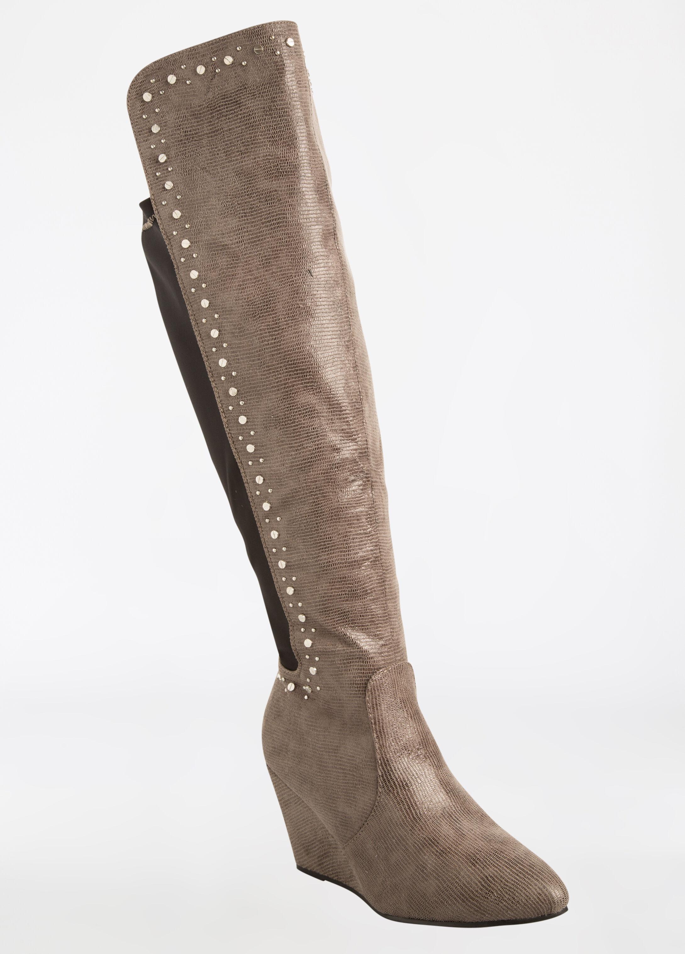 Elastic Calf Stretch Boots - Wide Width