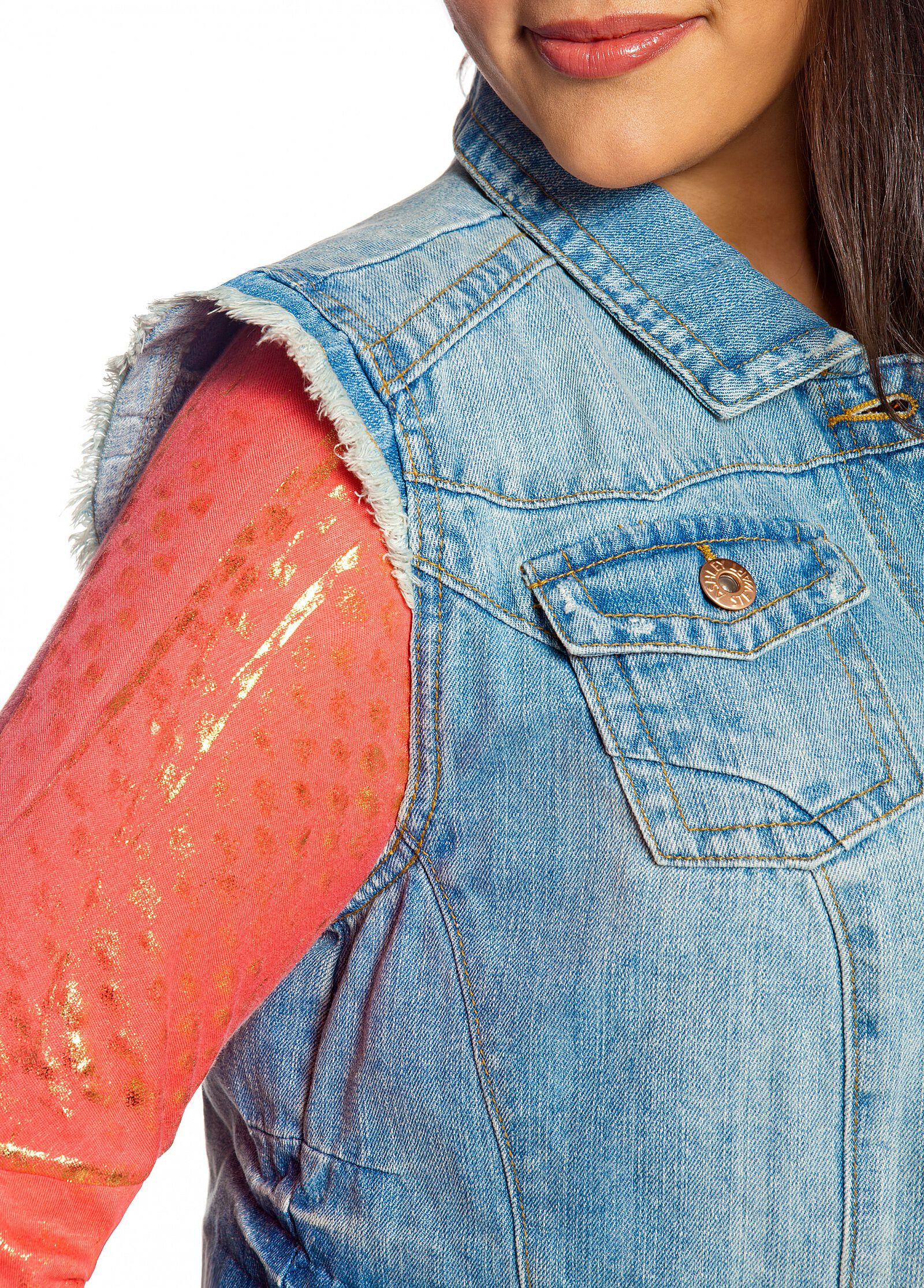 Frayed Denim Vest